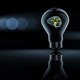 有效的脑子电灯泡 库存图片