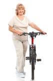 有效的年长妇女 免版税库存图片