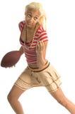 有效的footballl女孩 图库摄影