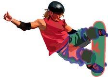 有效的skateborder年轻人 免版税图库摄影