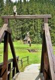 有教育步行的林业露天博物馆在Vydrovo 免版税库存图片