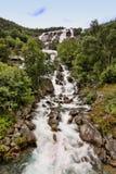 有数百美丽的瀑布在斯堪的那维亚 库存图片