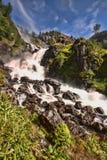 有数百美丽的瀑布在斯堪的那维亚 库存照片