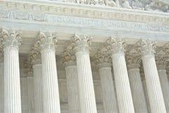 有文本的美国最高法院 免版税库存照片