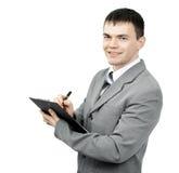 有文件的负责任的管理员 库存图片