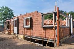 有新房的建造场所 免版税库存图片