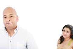 有新的夫妇争议 免版税库存图片
