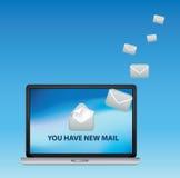 有新的邮件您 免版税库存照片