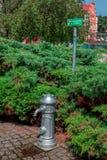 有新鲜的饮用水的街道泵浦在弗罗茨瓦夫 库存图片