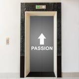 有方式的电梯对激情 免版税库存照片