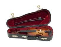 有旅行小提琴将 库存照片