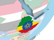 有旗子的埃塞俄比亚 向量例证