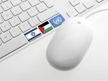 有旗子的Computor键盘 免版税库存照片