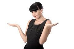 有无忧无虑的态度的专业女商人 免版税库存图片