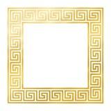 有无缝的河曲设计的黄金广场 皇族释放例证
