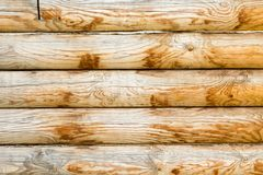 有日志的木墙壁 免版税图库摄影