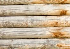 有日志的木墙壁 免版税库存图片