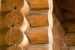 有日志的木墙壁 图库摄影