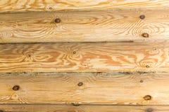有日志的木墙壁 库存照片