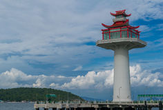 有日本神色的灯塔 免版税库存照片