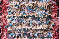 有旧布的地毯 库存图片