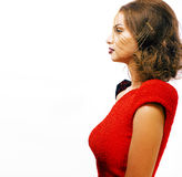 有时尚样式构成的年轻俏丽的妇女,链子喜欢gussar 免版税库存图片