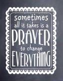 有时祷告黑板艺术 免版税库存照片