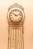 有时钟的墙壁 免版税图库摄影