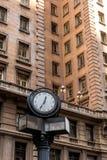 有时钟的著名历史修造的马蒂内利 免版税库存照片