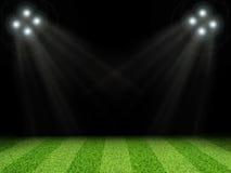 有明亮的光的体育场,没有标注 免版税库存照片