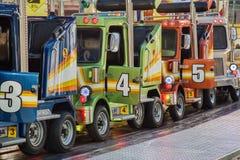 有明亮的色的卡车的护卫舰 库存照片