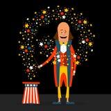 有星的美国魔术师 在舱内甲板的传染媒介例证 免版税库存照片