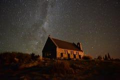 有星系的教会 库存图片