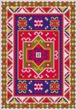 有映象点样式的传染媒介地毯 库存例证
