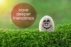 有更加深刻的友谊 免版税库存照片