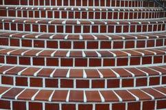 有有具体水泥的红砖台阶 免版税库存图片