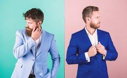 有有胡子的面孔的商务伙伴 企业时尚豪华男服 经理的正式成套装备 时髦的商人 免版税库存照片