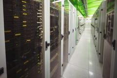 有服务器行的走廊  库存图片