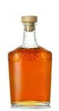 有木停止者的白兰地酒瓶 免版税库存照片