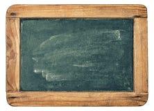 有木制框架特写镜头的古色古香的黑板 免版税库存照片