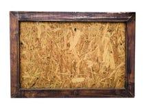 有木制框架的木板 免版税库存图片