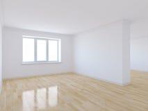 有木地板的空的室 库存例证