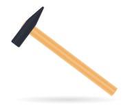 有木把柄的传统锤子 皇族释放例证