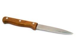 有木把柄的厨刀 免版税库存照片
