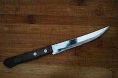 有木把柄的金属刀子 图库摄影