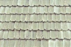 有木木瓦的老屋顶 纹理 特写镜头 库存图片