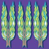 有机产品的,收获和种田概念,五谷,面包店,健康食物 风格化麦子耳朵的样式在紫罗兰后面的 向量例证