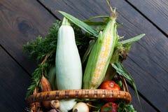 有机农业市场,新庭院收获 免版税库存照片