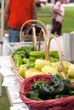 有机农夫的新鲜市场 免版税库存照片