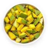 有机切的印地安芒果(印度的Mangifera) 库存照片